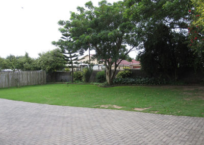 Parking and back garden